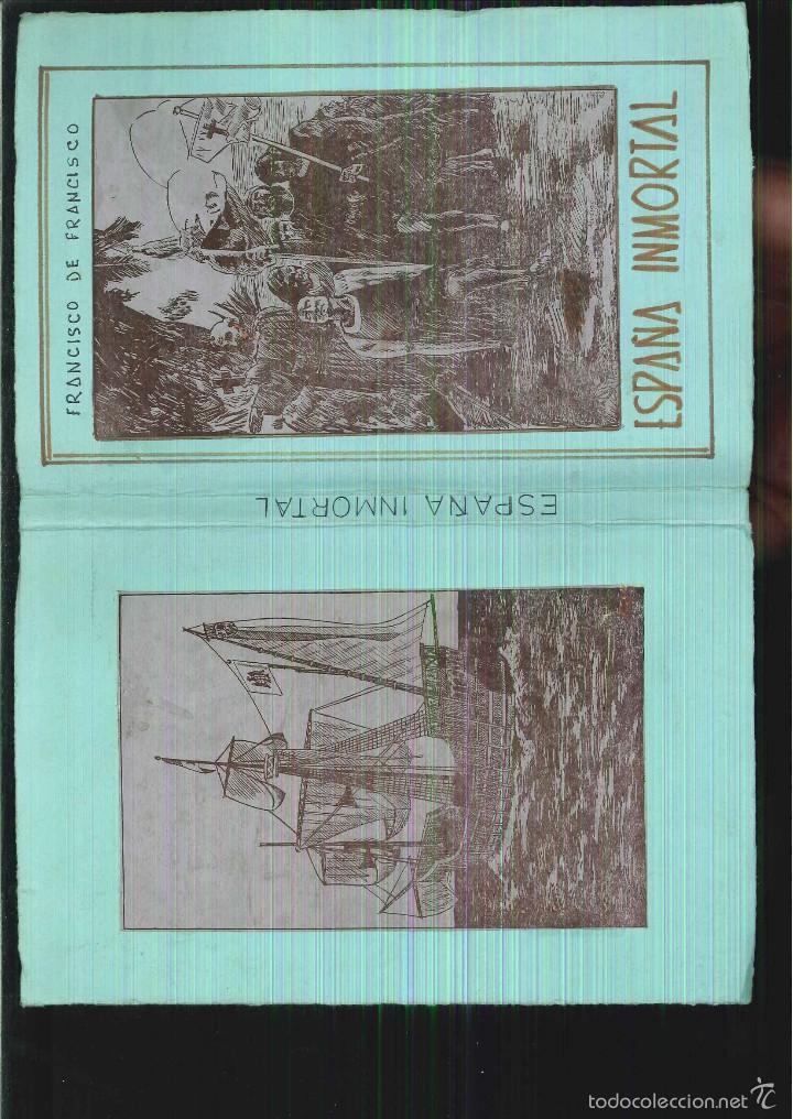 Libros antiguos: ESPAÑA INMORTAL (CUADROS HISTÓRICOS). EL DESCUBRIMIENTO. Francisco de Francisco - Foto 2 - 55181865