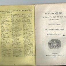 Libros antiguos: 1862 - CEFERINO SUAREZ BRAVO Y MARIANO ZACARÍAS CAZURRO - EL BUFÓN DEL REY DRAMA EN CINCO ACTOS. Lote 55913682