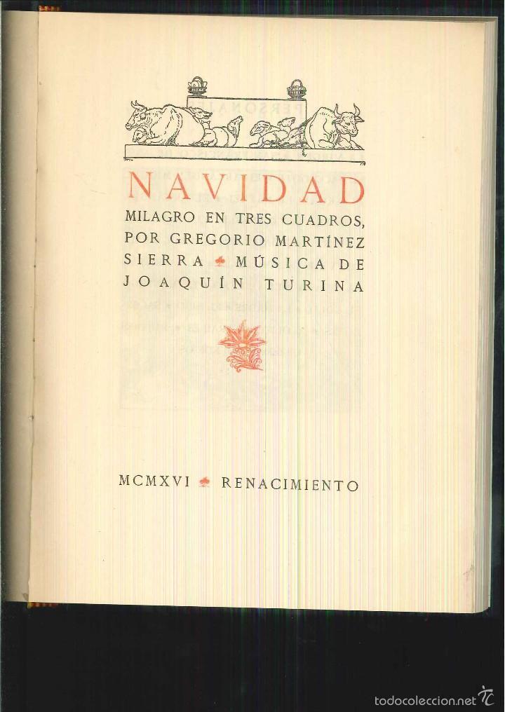NAVIDAD. MILAGRO EN TRES CUADROS. GREGORIO MARTÍNEZ (Libros antiguos (hasta 1936), raros y curiosos - Literatura - Teatro)