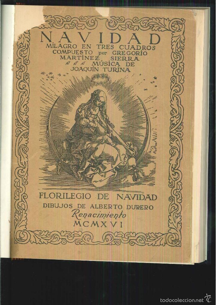 Libros antiguos: NAVIDAD. MILAGRO EN TRES CUADROS. Gregorio Martínez - Foto 2 - 55918085