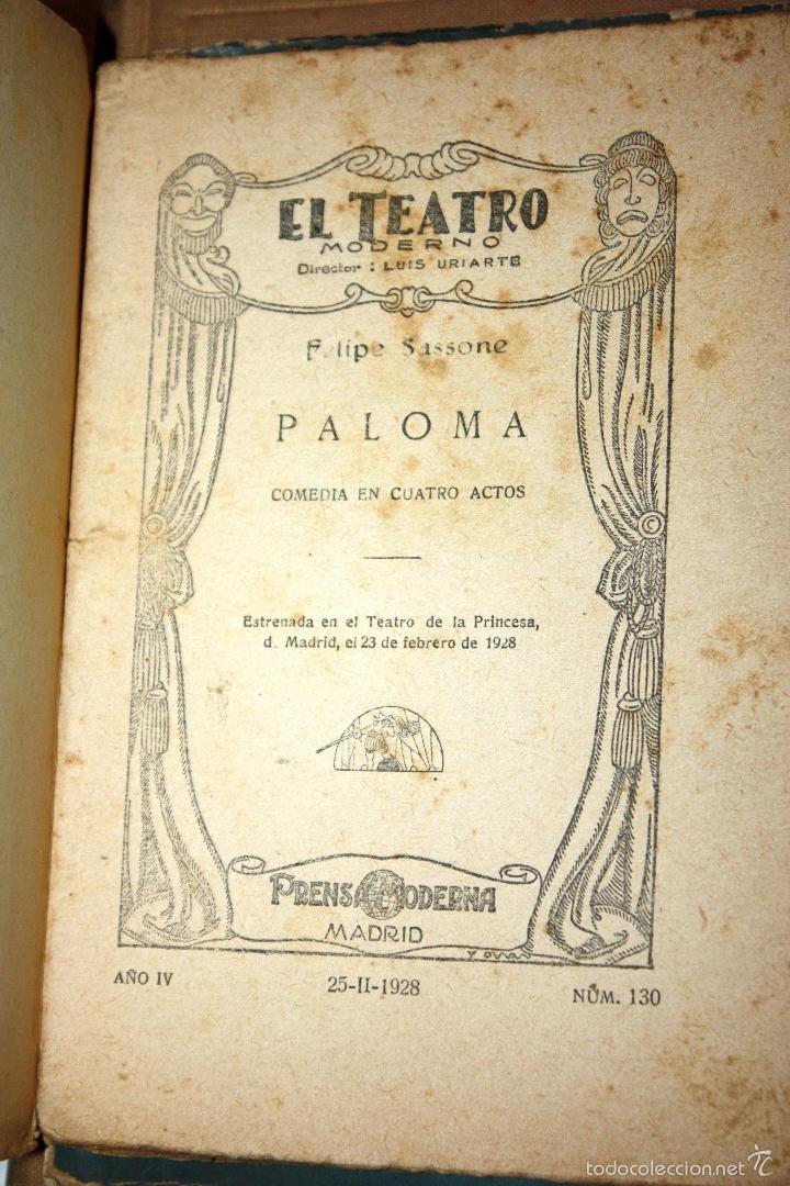 Libros antiguos: PALOMA. FELIPE SASSONE 1928 AÑO IV NÚM. 130 PRENSA MODERNA - Foto 4 - 56229868