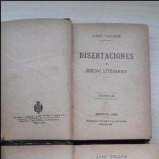 Libros antiguos: DISERTACIONES Y JUICIOS LITERARIOS (TOMOS I Y II) 1882. JUAN VALERA. Lote 56190336