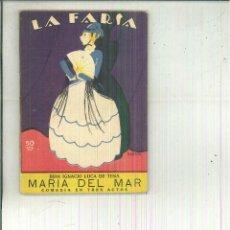 Libros antiguos: MARÍA DEL MAR. JUAN IGNACIO LUCA DE TENA. Lote 56594702