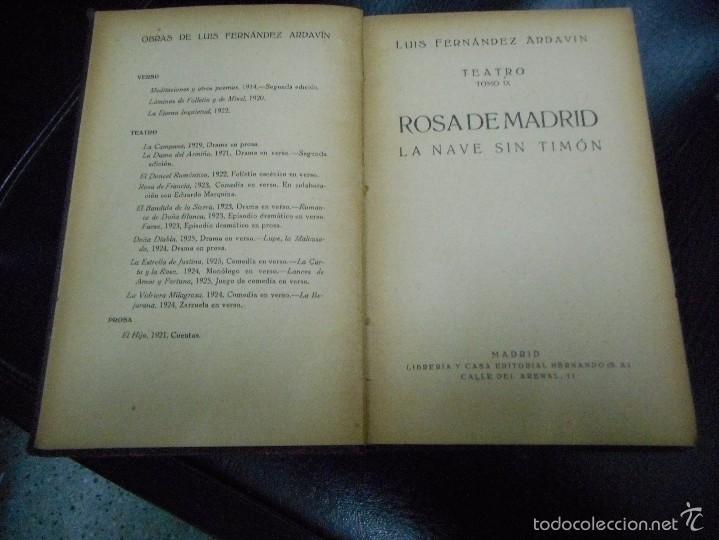 Libros antiguos: la nave sin timon años 20 de luis fernandez ardavin muy buen estado - Foto 2 - 56907301