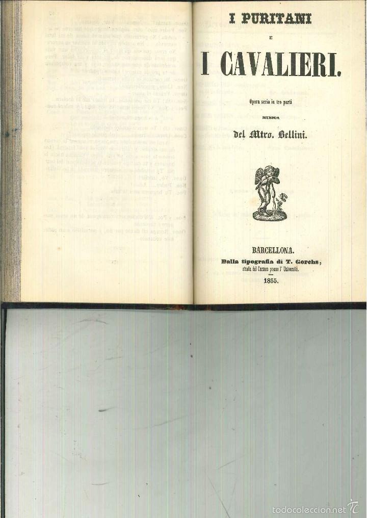 Libros antiguos: LA SOMNÁMBULA. MELODRAMA EN DOS ACTOS. Música del Maestro Vicente Bellini. - Foto 3 - 214004960
