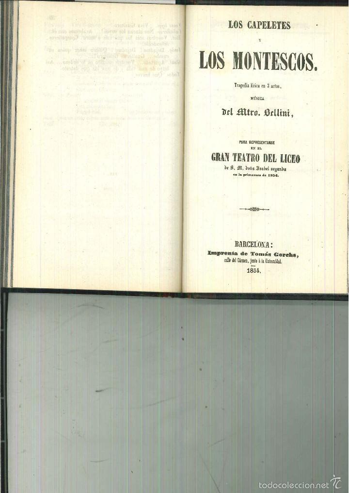 Libros antiguos: LA SOMNÁMBULA. MELODRAMA EN DOS ACTOS. Música del Maestro Vicente Bellini. - Foto 5 - 214004960