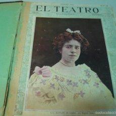 Libros antiguos: EL TEATRO PUBLICACION MENSUAL AÑO 1902 Nº15-27 ,ENCUADERNADA. Lote 57453456