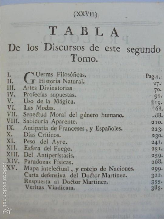 Libros antiguos: TEATRO CRITICO UNIVERSAL. TOMO SEGUNDO. 1777. BENITO GERONIMO FEYJOO Y MONTENEGRO. JOACHIN IBARRA ED - Foto 13 - 57479025