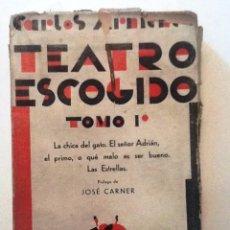 Libros antiguos: TEATRO ESCOGIDO. TOMO I. CARLOS ARNICHE. PROLOGO JOSE CARNER. LA CHICA DEL GATO, EL SEÑOR ADRIAN. Lote 57766510