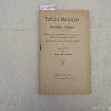 Libros antiguos: PORTFOLIO MALLORQUÍN O FANTOCHES POLÍTICOS, 1902. Lote 169415413