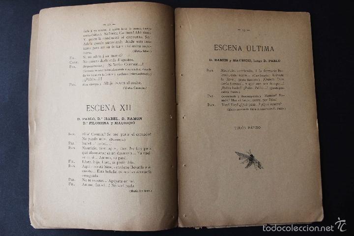 Libros antiguos: ¡Añoranza! Comedia en tres actos. Modesto Urgell. Col. Escuela Modernista. 1899 Teatro raro único - Foto 4 - 58629795