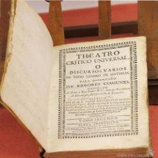 Libros antiguos: 7953 - THEATRO CRITICO UNIVERSAL. TOMO II. FRAY BENITO. IMP. H. FR. DEL HIERRO. 1752.. Lote 60578931