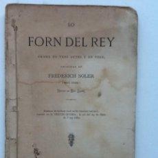 Libros antiguos: 1880 FREDERICH SOLER .SERAFI PITARRA.. DRAMA EN TRES ACTES Y EN VERS. Lote 60769155