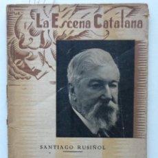 Libros antiguos: EL BON POLICIA. 1935 SANTIAGO RUSIÑOL. LA ESCENA CATALANA. Lote 61453587