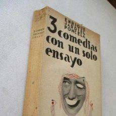 Libros antiguos: ENRIQUE JARDIEL PONCELA, 3 COMEDIAS CON UN SOLO ENSAYO-BIBLIOTECA NUEVA- DEPOSITO DE LEY - 1934. Lote 62071196