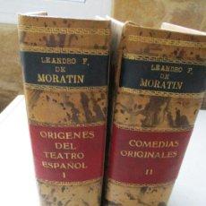 Libros antiguos: OBRAS DE LEANDRO FERNÁNDEZ DE MORATÍN, ORÍGENES DEL TEATRO ESPAÑOL, Y COMEDIAS ORIGINALES 2 TOMOS.-. Lote 62284580