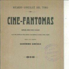 Libri antichi: CINE-FANTOMAS. RICARDO GONZÁLEZ DEL TORO. Lote 63541868