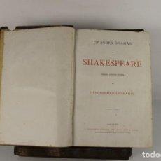Libros antiguos: 5127- GRANDES DRAMAS DE SHAKESPEARE. VV.AA. EDIT. FRANCISCO NACENTE. 2 VOL. SIN FECHA.. Lote 45195287