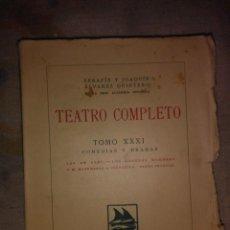 Libros antiguos: TEATRO COMPLETO TOMO XXXI. Lote 64465067