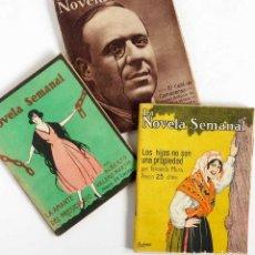 Libros antiguos: LOTE LA NOVELA SEMANAL. 3 NÚMEROS 1921. Lote 78606130