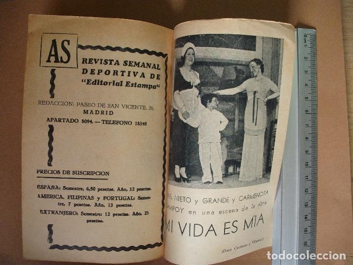 Libros antiguos: REVISTA SEMANA DE TEATRO LA FARSA-MI VIDA ES MIA - 8 - 2 - 1936 - Nº 438 - EDITORIAL ESTAMPA - Foto 3 - 67261277