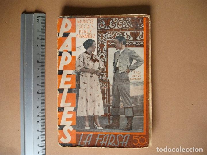 REVISTA SEMANAL DE TEATRO LA FARSA-PAPELES. 21- 9 -1935, Nº 418 - EDITORIAL ESTAMPA (Libros antiguos (hasta 1936), raros y curiosos - Literatura - Teatro)