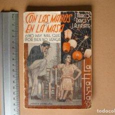 Libros antiguos: REVISTA SEMANAL DE TEATRO LA FARSA-CON LAS MANOS EN LA MASA. 14- 9 -1935, Nº 417 - EDITORIAL ESTAMPA. Lote 67314601
