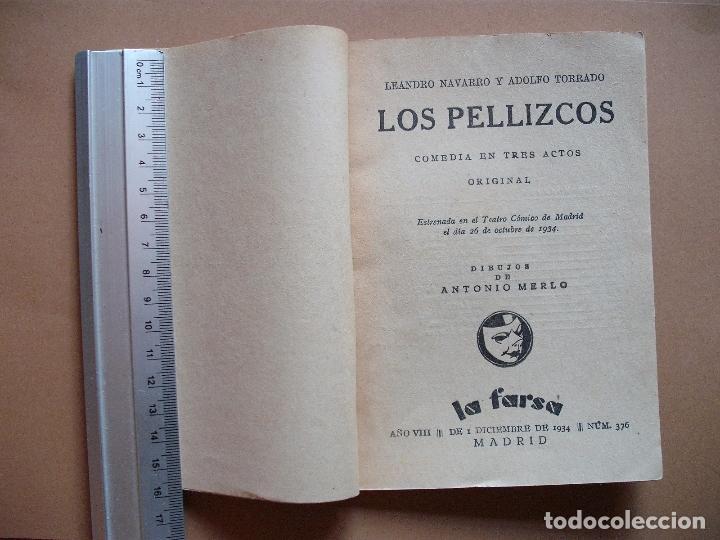 Libros antiguos: REVISTA SEMANAL DE TEATRO LA FARSA.LOS PELLIZCOS.1-12 -1934, Nº 376 - EDITORIAL ESTAMPA - Foto 2 - 67463437