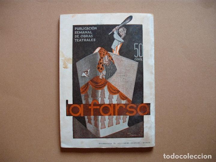 Libros antiguos: REVISTA SEMANAL DE TEATRO LA FARSA.LOS PELLIZCOS.1-12 -1934, Nº 376 - EDITORIAL ESTAMPA - Foto 3 - 67463437