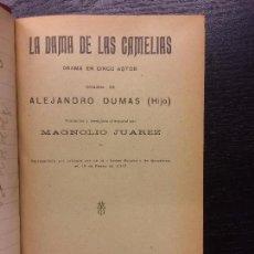 Libros antiguos: LA DAMA DE LAS CAMELIAS, DUMAS, EL LADRON, BERNSTEIN, ENTRE BOBOS ANDA EL JUEGO, ROJAS, EL DESDEN. Lote 67612005