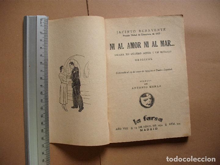 Libros antiguos: REVISTA SEMANA DE TEATRO- LA FARSA - NI AL AMOR NI AL MAR- 14-4-1934 - Nº344- EDITORIAL ESTAMPA - Foto 2 - 68088157