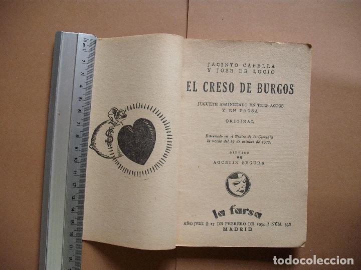 Libros antiguos: REVISTA SEMANA DE TEATRO- LA FARSA - EL CRESO DE BURGOS. 17 -2 -1934 - Nº336- EDITORIAL ESTAMPA - Foto 2 - 68181537