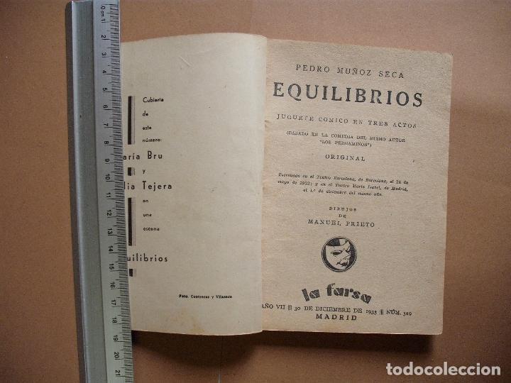 Libros antiguos: REVISTA SEMANA DE TEATRO- LA FARSA -EQUILIBRIOS - 30-12-1933- Nº329- EDITORIAL ESTAMPA - Foto 2 - 68190165