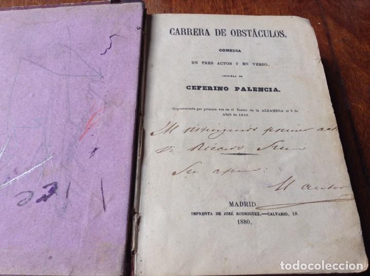 Libros antiguos: Libro Carrera de obstáculos . Ceferino Palencia .1880 - Foto 2 - 75100971