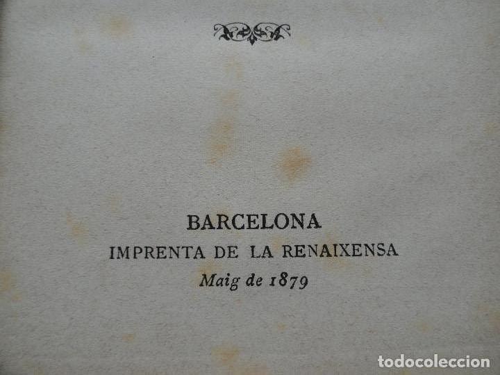 Libros antiguos: GALA PLACIDIA, por Angel Guimara. Texto en catalan. 1ª edición, 1879. - Foto 2 - 75202119