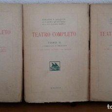 Libros antiguos: TEATRO COMPLETO. TOMOS I, II Y III. SERAFIN Y JOAQUIN ALVAREZ QUINTERO. MADRID 1923. . Lote 75674759