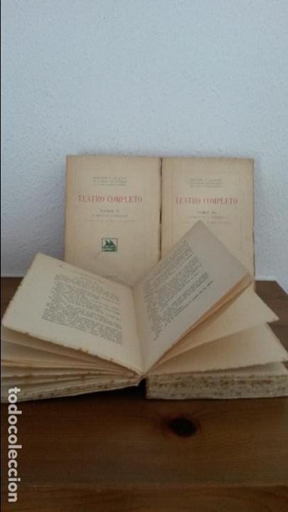 Libros antiguos: TEATRO COMPLETO. TOMOS I, II Y III. SERAFIN Y JOAQUIN ALVAREZ QUINTERO. MADRID 1923. - Foto 3 - 75674759