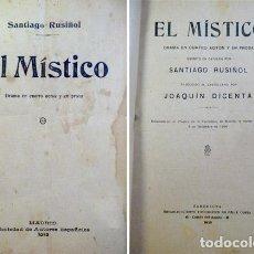 Alte Bücher - RUSIÑOL, Santiago. El Místico. 1913. - 77733849