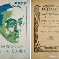 Alte Bücher - GRAU, Jacinto. Don Juan de Carillana. 1929. - 77735965