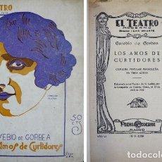Libros antiguos: GORBEA LEMMI, EUSEBIO. LOS AMOS DE CURTIDORES. 1930.. Lote 77983221