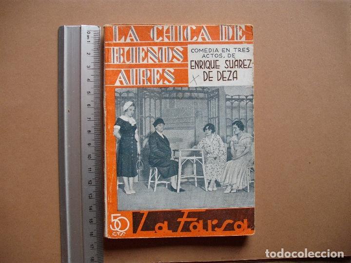 LA FARSA- LA CHICA DE BUENOS AIRES- Nº 323,REVISTA SEMANAL DE TEATRO- 1933 (Libros antiguos (hasta 1936), raros y curiosos - Literatura - Teatro)