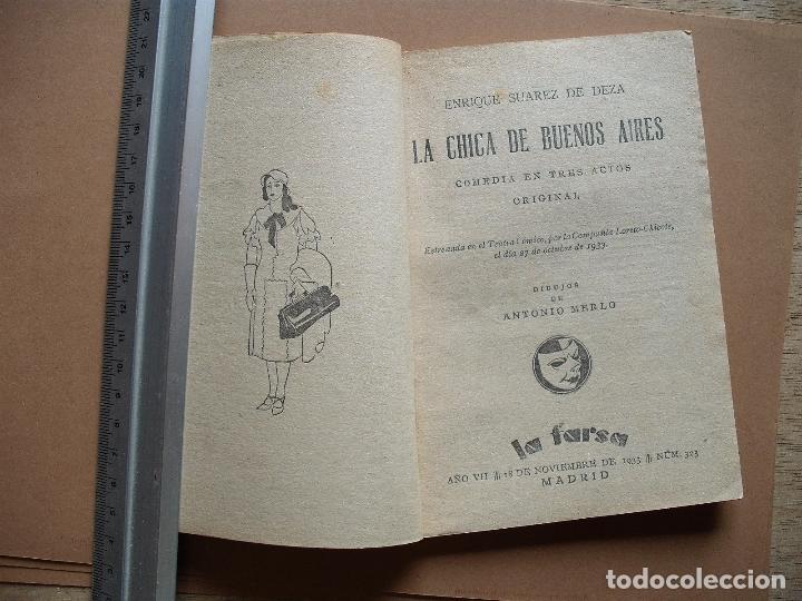 Libros antiguos: LA FARSA- LA CHICA DE BUENOS AIRES- Nº 323,REVISTA SEMANAL DE TEATRO- 1933 - Foto 3 - 78767825