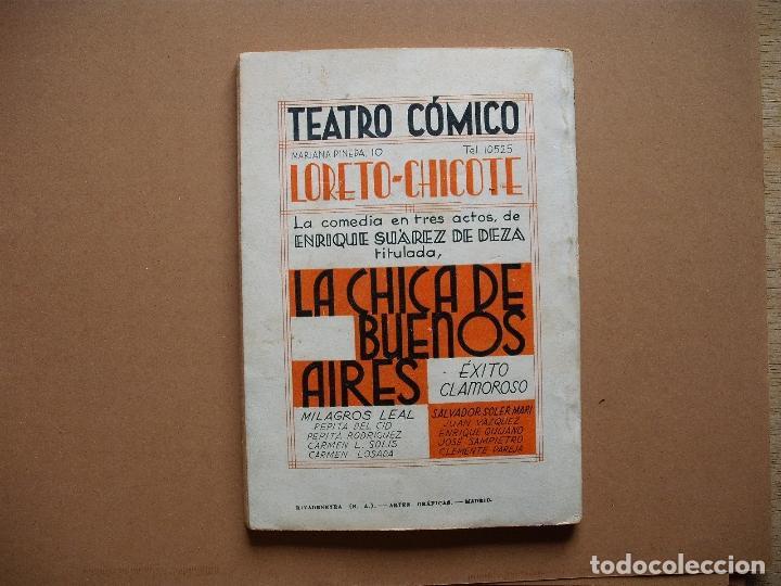 Libros antiguos: LA FARSA- LA CHICA DE BUENOS AIRES- Nº 323,REVISTA SEMANAL DE TEATRO- 1933 - Foto 4 - 78767825