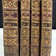 Libros antiguos: OEUVRES DE MOLIERE Y DE BOILEAU DESPRÉAUX. 4 TOMOS. (VER DESCRIPCIÓN). VV. EDIT. 1775/79.. Lote 79095709