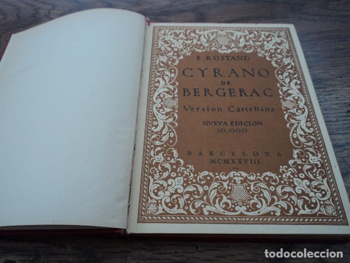 Libros antiguos: Cyrano de Bergerac (versión castellana) - Autor: Edmundo Rostand - Edita: Farré y Asensio - 1928 - Foto 2 - 79290253