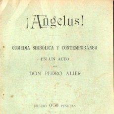 Libros antiguos: PEDRO ALIER : ANGELUS (1902) . Lote 86463200