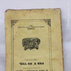 Libros antiguos: EL TEATRO. VER Y NO VER, DE ENRIQUE PEREZ ESCRICH, MADRID 1855. Lote 87326940