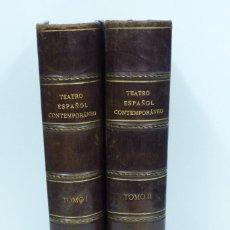 Libros antiguos: TEATRO ESPAÑOL CONTEMPORANEO , 2 TOMOS 1886. Lote 87539312