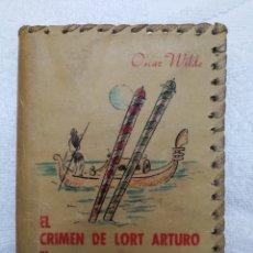 Libros antiguos: OSCAR WILDE EDICIÓN DE BOLSILLO CON ERROR DE IMPRENTA EN PORTADA AÑO 1948. Lote 87648294