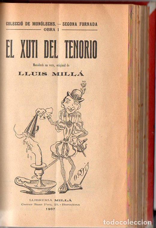 Libros antiguos: COLECCIÓ DE MONOLECHS - EN CATALÁN - 22 MONÓLOGOS COMPLETOS - VER LISTADO - Foto 2 - 90166136